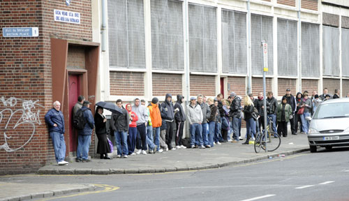 As dole queues get longer, social pressure mounts as capital undermines our dignity