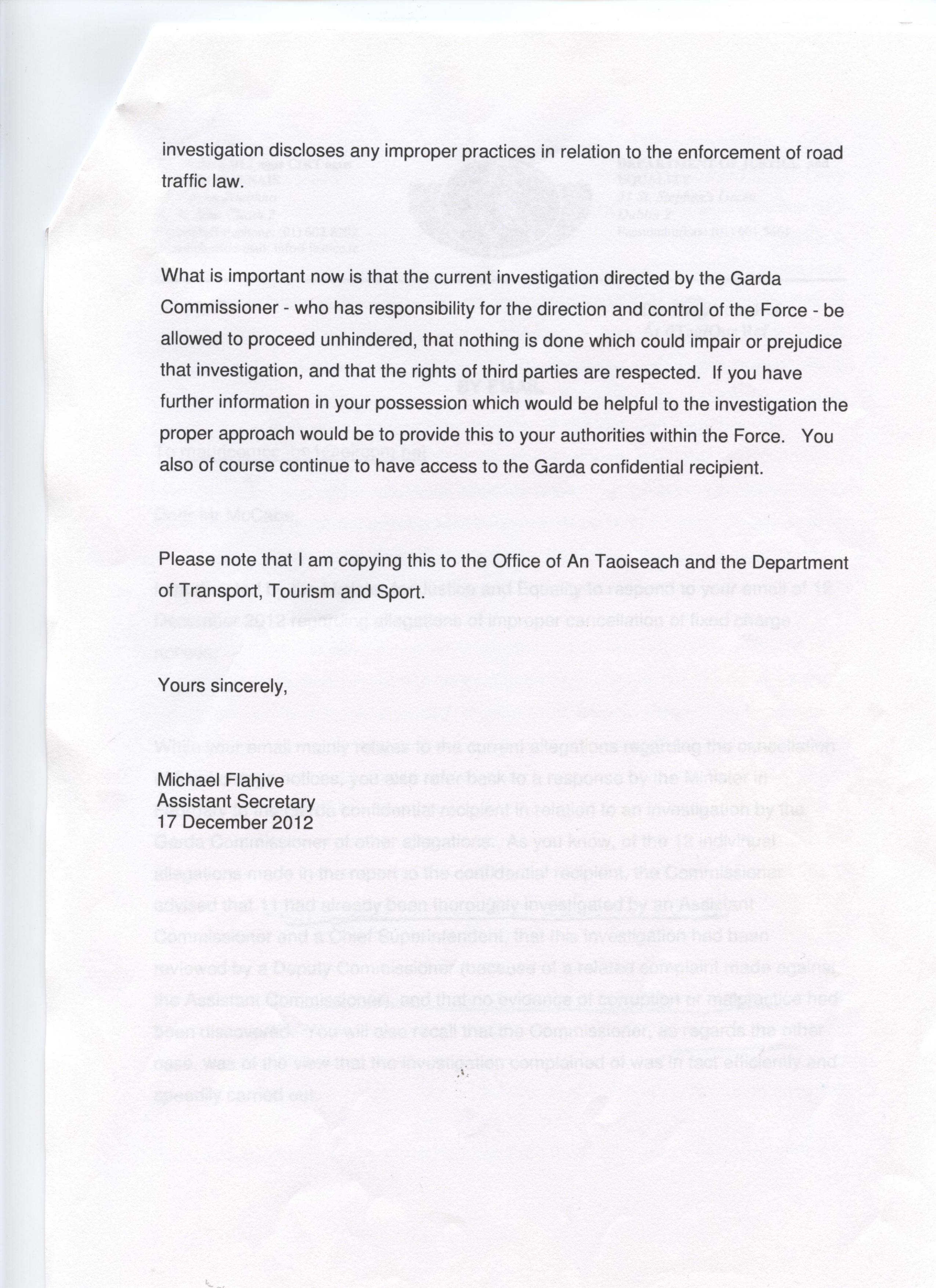The Letter From Shatter To Whistleblower Maurice Mc Cabe